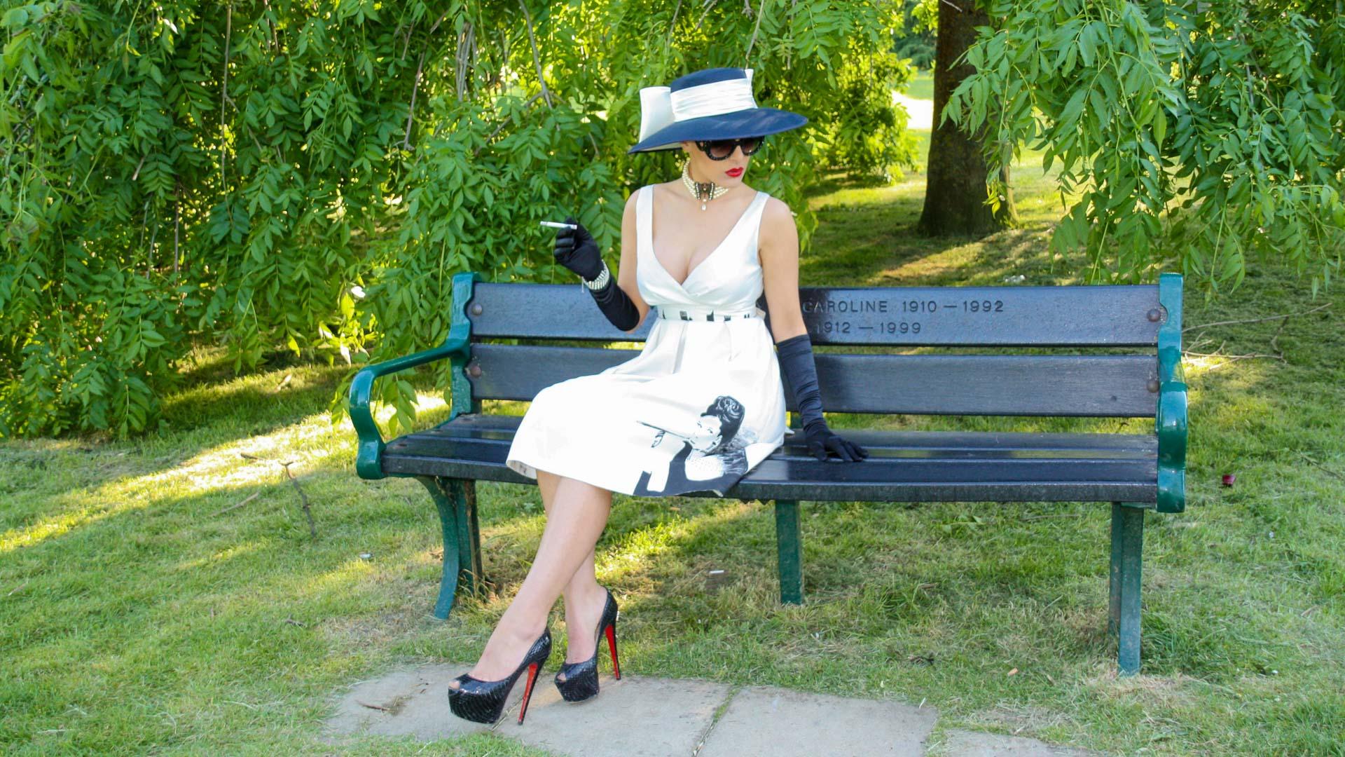 fashion, handpainted dress, photography, photographer, art, artist, bobbibicker, valbonabickerart, trompeoleil, illusion, forrest, sky, door, beautiful, original, mural, muralist, surrey, london, uk
